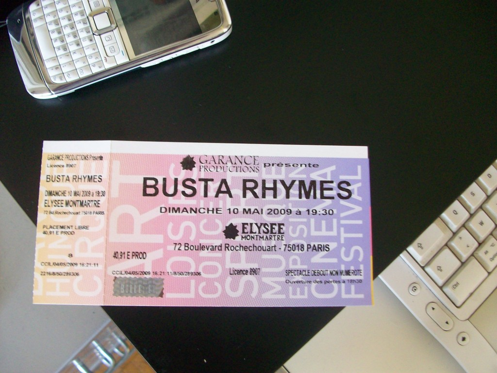 busta Rhymes pariscomlight