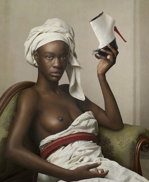 Campagne de publicit Louboutin, portrait de ngresse